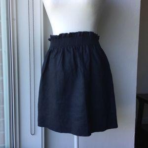 J. Crew Linen-Cotton Sidewalk Mini Skirt Size 4